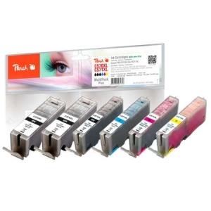 Peach  Spar Pack Plus Tintenpatronen XL kompatibel zu Hersteller-ID: 2xPGI-570XL, CLI-571XL Toner