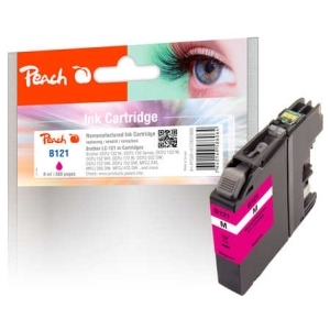 Peach  Tintenpatrone magenta kompatibel zu Hersteller-ID: LC-121M Tinte