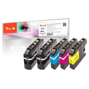 Peach  Spar Plus Pack Tintenpatronen kompatibel zu Hersteller-ID: LC-121 Tinte