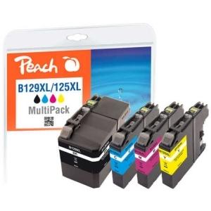Peach  Spar Pack Tintenpatronen kompatibel zu Hersteller-ID: LC-129XL, LC-125XL Toner