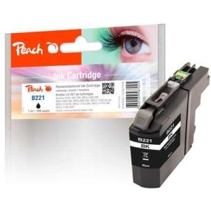 Peach  Tintenpatrone schwarz kompatibel zu Hersteller-ID: LC-221BK Druckerpatronen