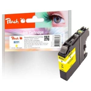 Peach  Tintenpatrone gelb kompatibel zu Hersteller-ID: LC-221Y Toner