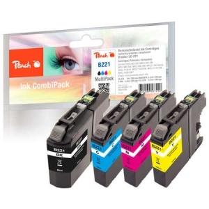 Peach  Spar Pack Tintenpatronen kompatibel zu Hersteller-ID: LC-221 Druckerpatronen