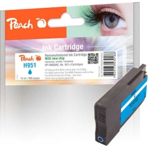 Peach  Tintenpatrone cyan kompatibel zu Hersteller-ID: No. 951, CN050AE Druckerpatronen
