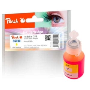 Peach  Tintenbehälter gelb kompatibel zu Brother BT5000 Hersteller-ID: BT5000Y Tinte