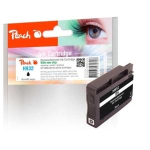 Peach  Tintenpatrone schwarz kompatibel zu Hersteller-ID: No. 932, CN057AE Tinte