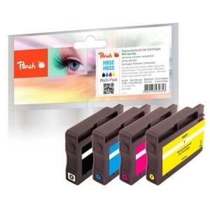 Peach  Spar Pack Tintenpatronen kompatibel zu Hersteller-ID: No. 932, No. 933 Druckerpatronen