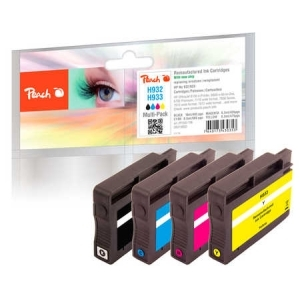 Peach  Spar Pack Tintenpatronen kompatibel zu Hersteller-ID: No. 932, No. 933 Toner