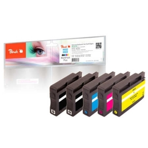 Peach  Spar Pack Plus Tintenpatronen kompatibel zu Hersteller-ID: No. 932, No. 933 Toner