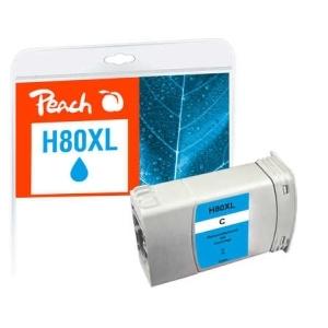 Peach  Tintenpatrone cyan kompatibel zu Hersteller-ID: No. 80, C4846A Toner