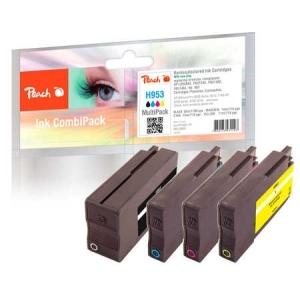 Peach  Spar Pack Tintenpatronen kompatibel zu Hersteller-ID: No. 953 Druckerpatronen