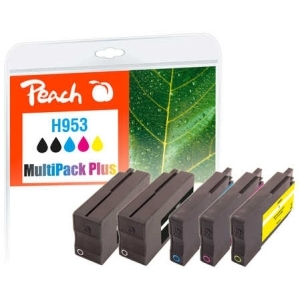Peach  Spar Pack Plus Tintenpatronen kompatibel zu Hersteller-ID: No. 953 Tinte