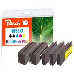Peach  Spar Pack Plus Tintenpatronen kompatibel zu Hersteller-ID: No. 953XL Druckerpatronen