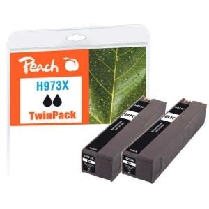 Peach  Doppelpack Tintenpatrone schwarz HC kompatibel zu Hersteller-ID: No. 973X, L0S07AE Tinte