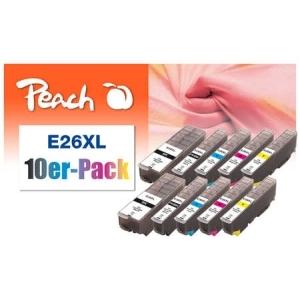 Peach  10er-Pack Tintenpatronen HY kompatibel zu Hersteller-ID: No. 26XL Tinte