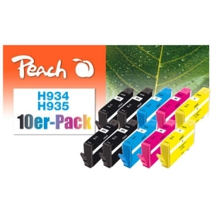 Peach  10er-Pack Tintenpatronen kompatibel zu Hersteller-ID: No. 934, No. 935 Tinte