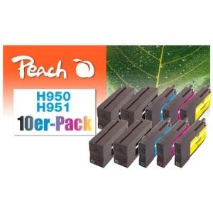 Peach  10er-Pack Tintenpatronen kompatibel zu Hersteller-ID: No. 950, No. 951 Tinte