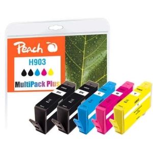 Peach  Spar Pack Plus Tintenpatronen kompatibel zu Hersteller-ID: No. 903 Tinte