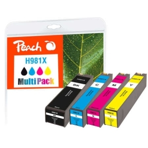 Peach  Spar Pack Tintenpatronen kompatibel zu Hersteller-ID: No. 981X Tinte
