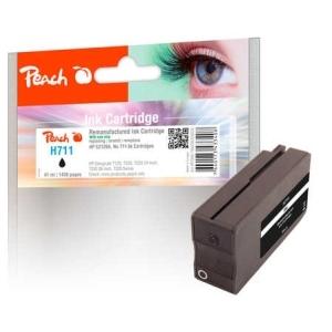 Peach  Tintenpatrone schwarz kompatibel zu  Hersteller-ID: No. 711, CZ129AE Tinte