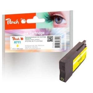 Peach  Tintenpatrone gelb kompatibel zu  Hersteller-ID: No. 711, CZ132AE Toner