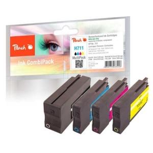 Peach  Spar Pack Tintenpatronen kompatibel zu  Hersteller-ID: No. 711 Druckerpatronen