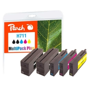 Peach  Spar Pack Plus Tintenpatronen kompatibel zu Hersteller-ID: No. 711 Tinte