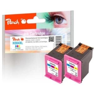 Peach  Doppelpack Druckköpfe color kompatibel zu Hersteller-ID: No. 304XL col, N9K07AE Druckerpatronen