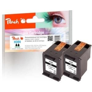 Peach  Doppelpack Druckköpfe schwarz kompatibel zu Hersteller-ID: No. 304 bk, N9K06AE*2 Tinte