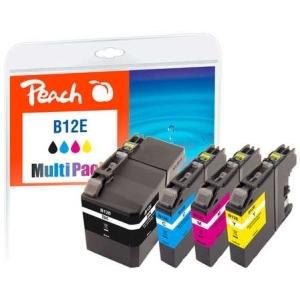 Peach  Spar Pack Tintenpatronen kompatibel zu Hersteller-ID: LC-12EY Druckerpatronen