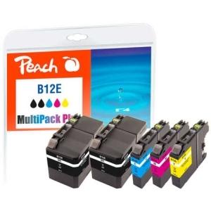 Peach  Spar Pack Plus Tintenpatronen, kompatibel zu Hersteller-ID: LC-12E Tinte
