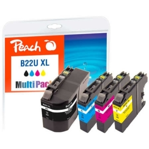 Peach  Spar Pack Tintenpatronen kompatibel zu Hersteller-ID: LC-22UXL Tinte