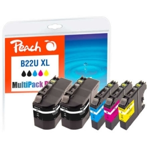 Peach  Spar Pack Plus Tintenpatronen, kompatibel zu Hersteller-ID: LC-22UXL Toner