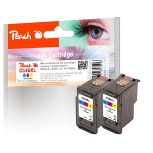 Peach  Doppelpack Druckköpfe color kompatibel zu Hersteller-ID: CL-546XL*2 Druckerpatronen