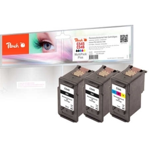 Peach  Spar Pack Tintenpatronen kompatibel zu Hersteller-ID: PG-545*2, CL-546 Toner