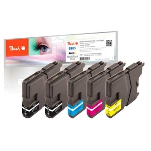 Peach  Spar Pack Plus Tintenpatronen kompatibel zu Hersteller-ID: LC-985 Toner