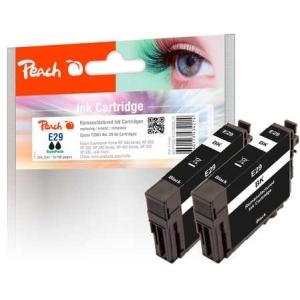 Peach  Doppelpack Tintenpatronen schwarz kompatibel zu Hersteller-ID: No. 29 bk*2, T2981 Tinte