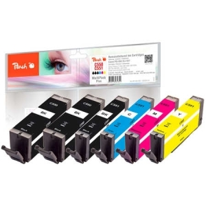 Peach  Spar Pack Plus Tintenpatronen kompatibel zu Hersteller-ID: PGI-550, CLI-551 Druckerpatronen