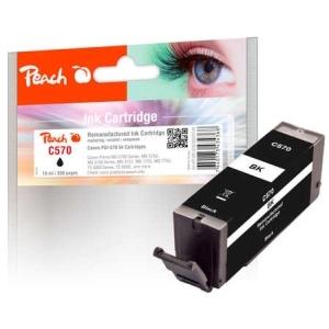 Peach  Tintenpatrone schwarz kompatibel zu Hersteller-ID: PGI-570 bk Druckerpatronen