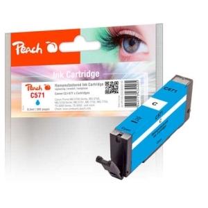 Peach  Tintenpatrone cyan kompatibel zu Hersteller-ID: CLI-571 c Tinte