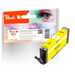 Peach  Tintenpatrone gelb kompatibel zu Hersteller-ID: CLI-571 y Tinte