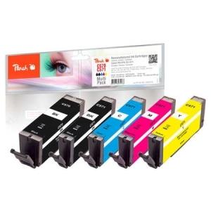 Peach  Spar Pack Tintenpatronen kompatibel zu Hersteller-ID: PGI-570, CLI-571 Toner