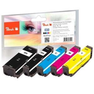 Peach  Spar Pack Tintenpatronen kompatibel zu Hersteller-ID: No. 33, T3337 Druckerpatronen