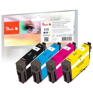 Peach  Spar Pack Tintenpatronen kompatibel zu Hersteller-ID: No. 18, T1806 Druckerpatronen