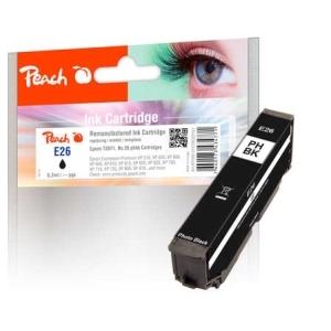 Peach  Tintenpatrone foto schwarz kompatibel zu Hersteller-ID: No. 26 phbk, T2611 Toner