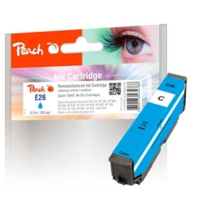 Peach  Tintenpatrone cyan kompatibel zu Hersteller-ID: No. 26 c, T2612 Toner