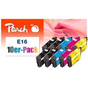 Peach  10er-Pack Tintenpatronen kompatibel zu Hersteller-ID: No. 16 Druckerpatronen