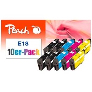 Peach  10er-Pack Tintenpatronen kompatibel zu Hersteller-ID: No. 18 Druckerpatronen