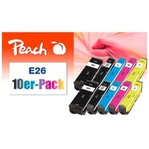 Peach  10er-Pack Tintenpatronen kompatibel zu Hersteller-ID: No. 26 Toner