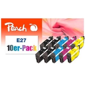 Peach  10er-Pack Tintenpatronen kompatibel zu Hersteller-ID: No. 27 Druckerpatronen